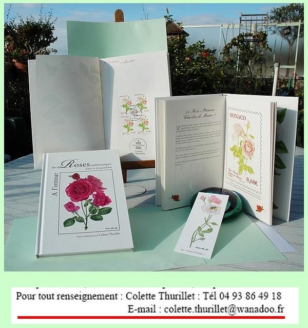 Livre et timbres poste colette thurillet 412545