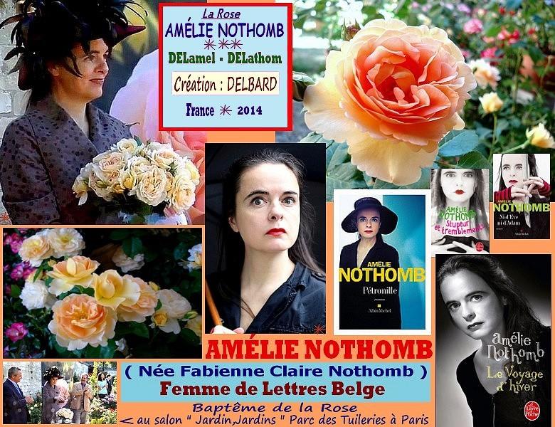 Rose amelie nothomb delamel delathom delbard france 2014