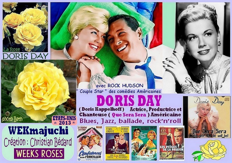Rose doris day wekmajuchi christian bedard rock hudson weeks roses 2013 roses passion 1