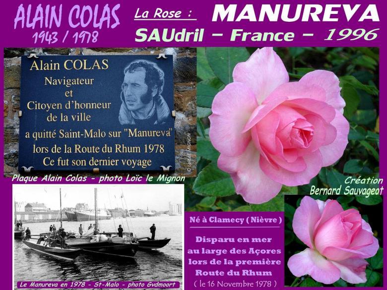 Rose manureva saudril alain colas bernard sauvageot roses passion