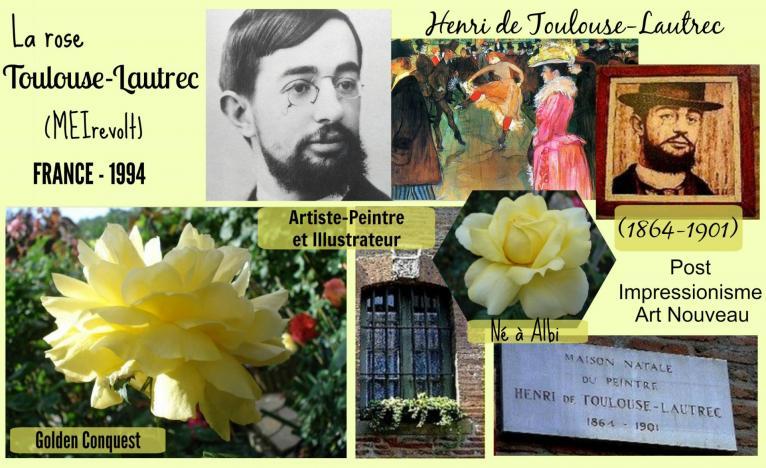 Rose toulouse lautrec meirevolt golden conquest meilland france 1994 roses passion 2j